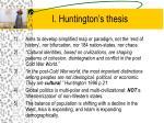 i huntington s thesis