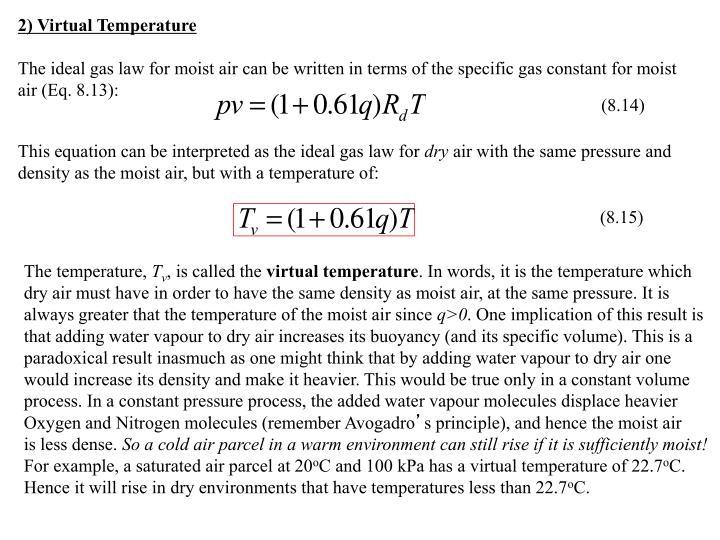 2) Virtual Temperature