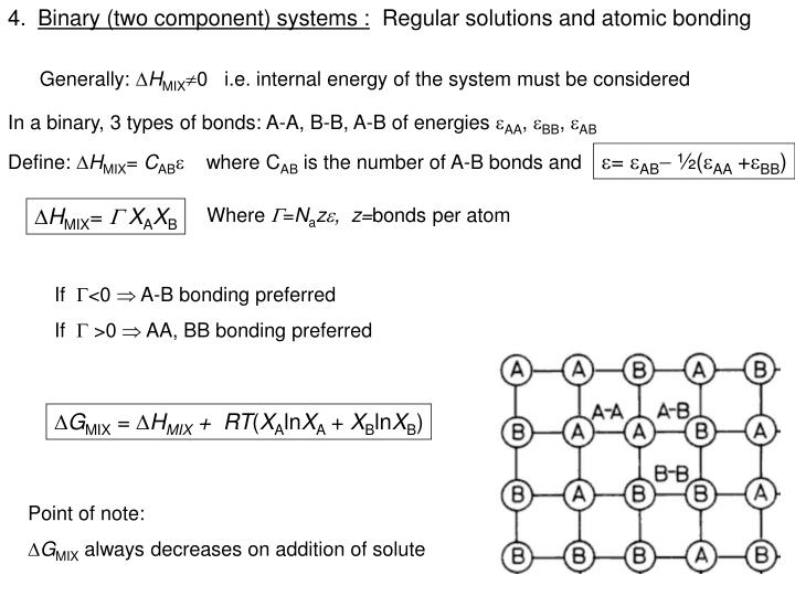 Binary (two component) systems :