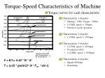 torque speed characteristics of machine