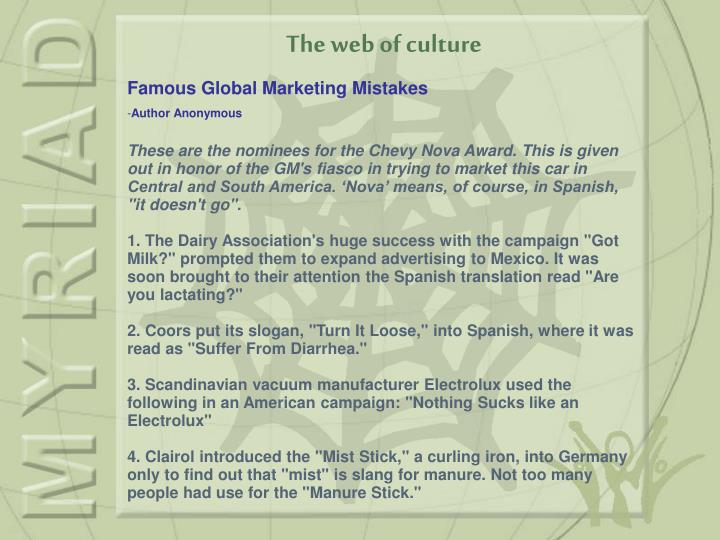 The web of culture