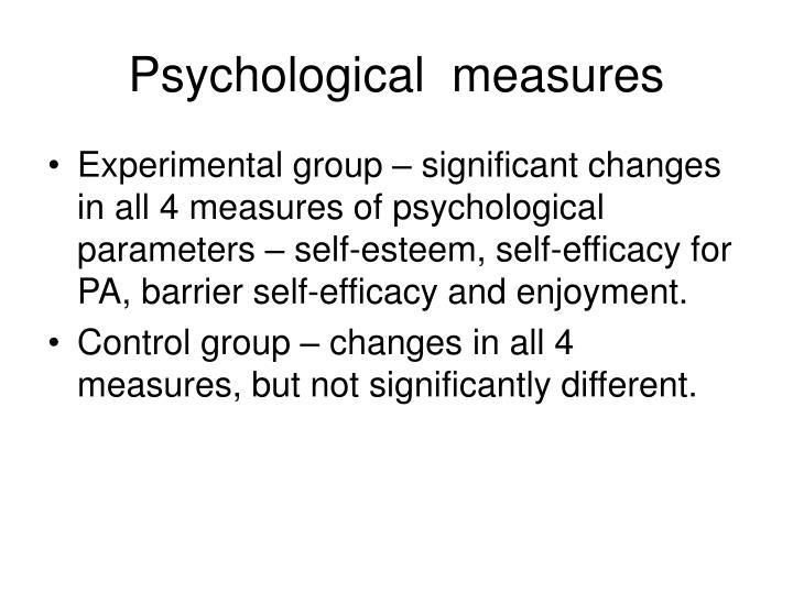 Psychological  measures