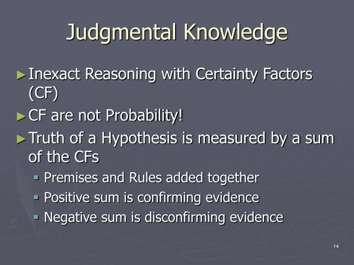 Judgmental Knowledge