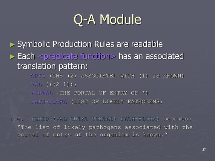 Q-A Module