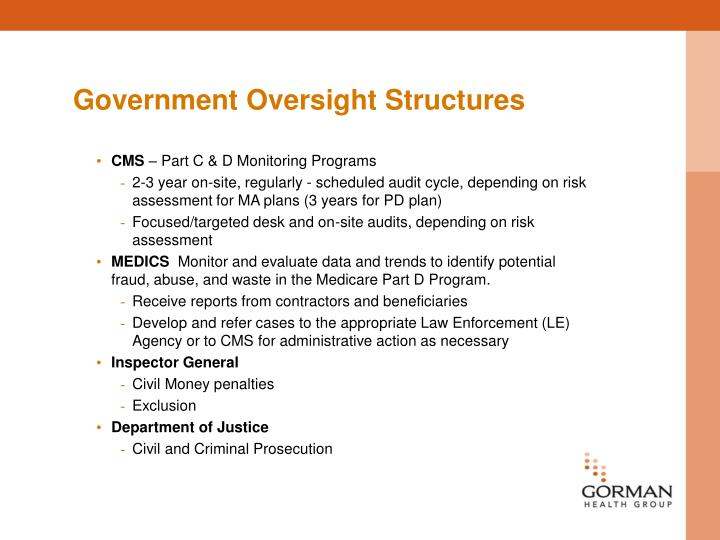 Government Oversight Structures
