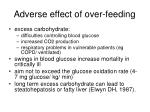 adverse effect of over feeding
