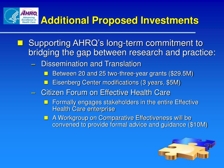 Additional Proposed Investments
