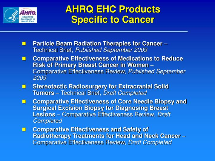 AHRQ EHC Products