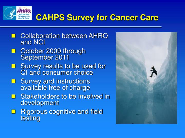 CAHPS Survey for Cancer Care