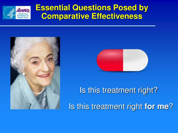 Essential Questions Posed by Comparative Effectiveness