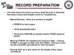 record preparation