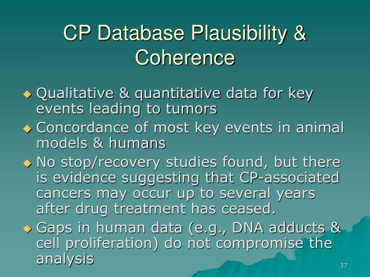 CP Database Plausibility & Coherence