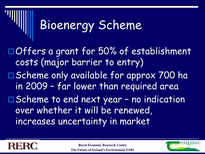 Bioenergy Scheme