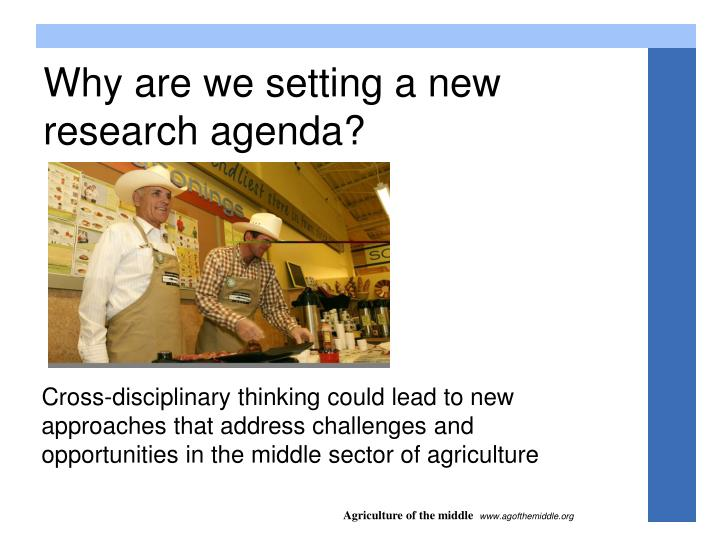 Why are we setting a new research agenda