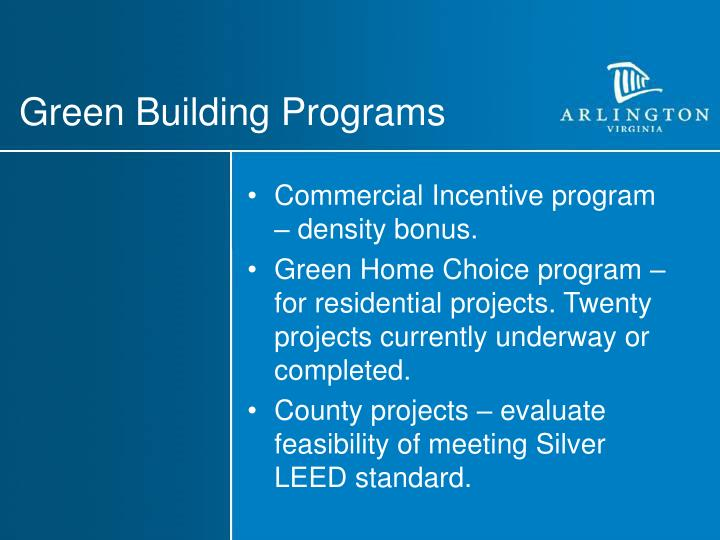 Green Building Programs