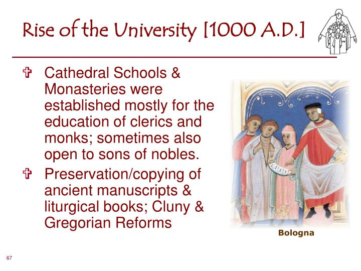 Rise of the University [1000 A.D.]