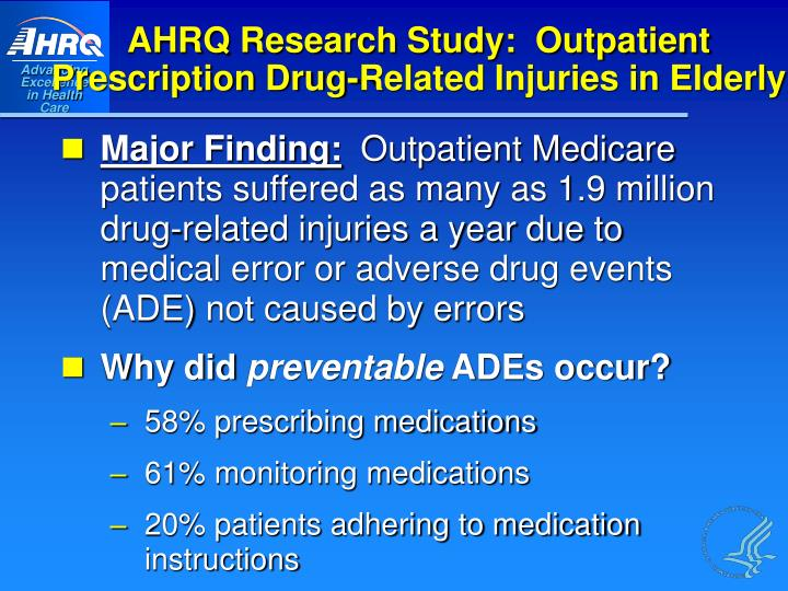 AHRQ Research Study:  Outpatient
