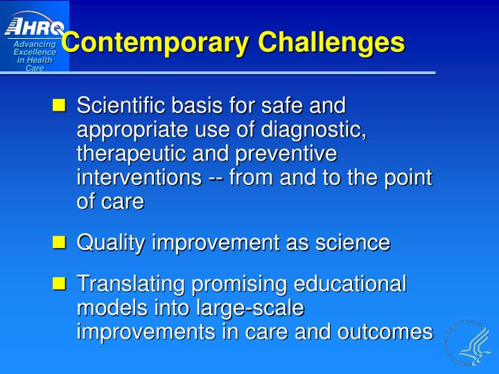 Contemporary Challenges