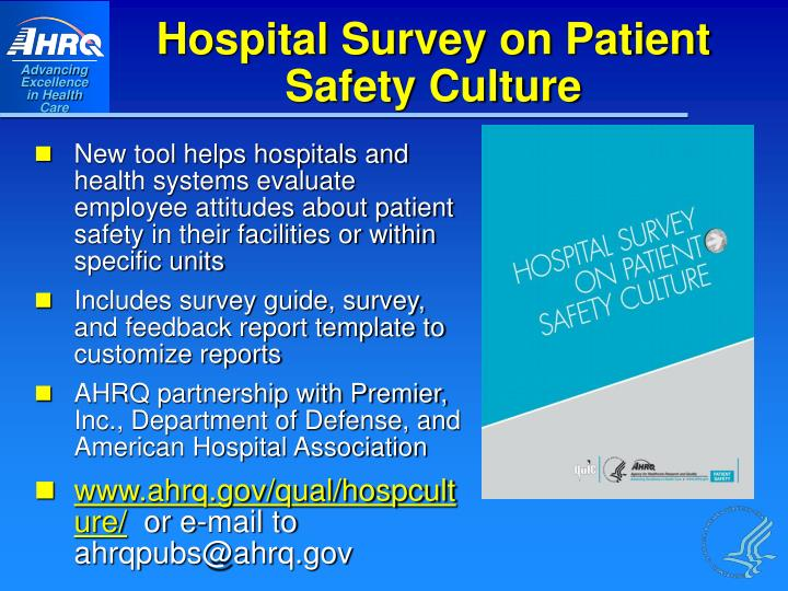 Hospital Survey on Patient Safety Culture