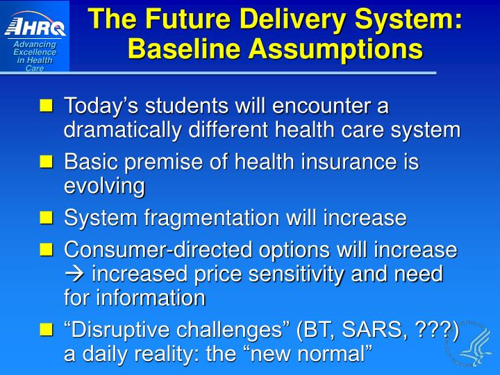The Future Delivery System: