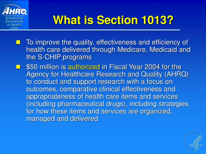 What is Section 1013?
