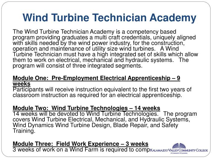 Wind Turbine Technician Academy