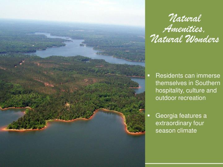 Natural amenities natural wonders