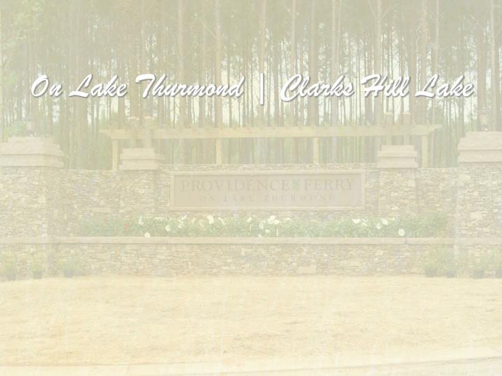 On lake thurmond clarks hill lake