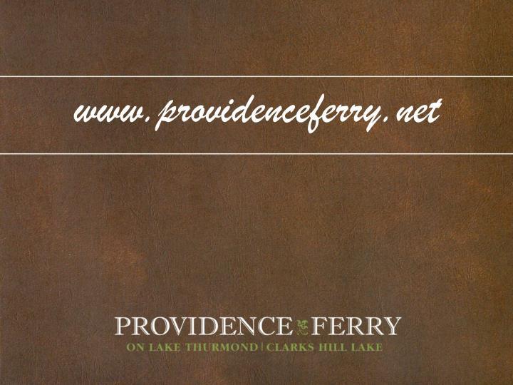 www.providenceferry.net