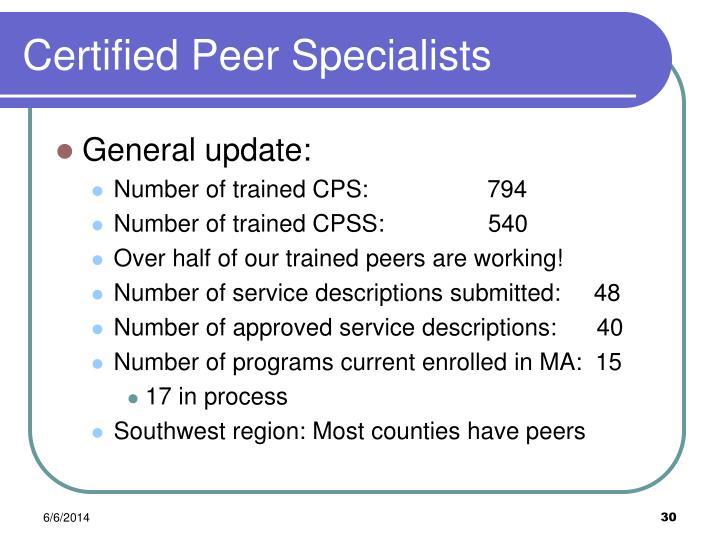 Certified Peer Specialists