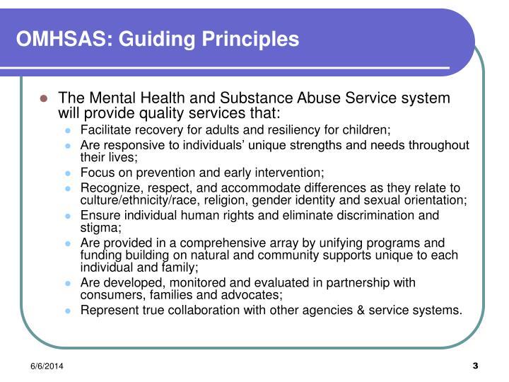 Omhsas guiding principles