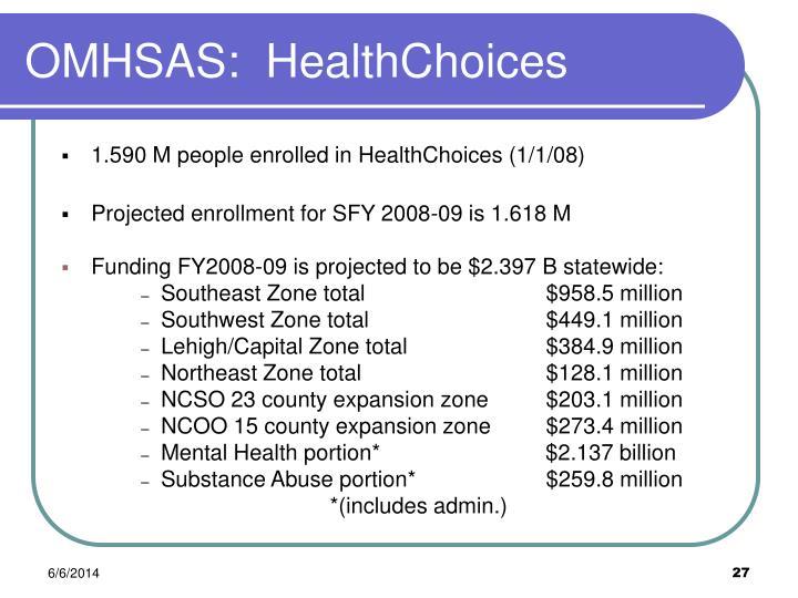 OMHSAS:  HealthChoices