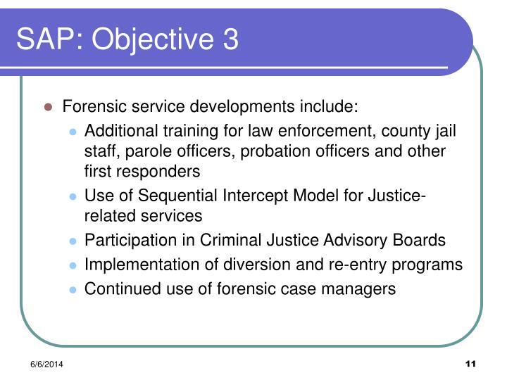 SAP: Objective 3