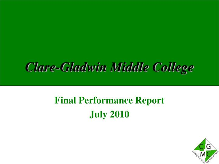 clare gladwin middle college n.