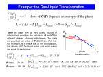 example the gas liquid transformation