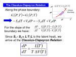 the clausius clapeyron relation