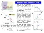 the first order transitions cont