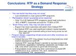 conclusions rtp as a demand response strategy