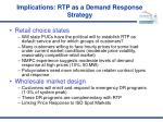 implications rtp as a demand response strategy