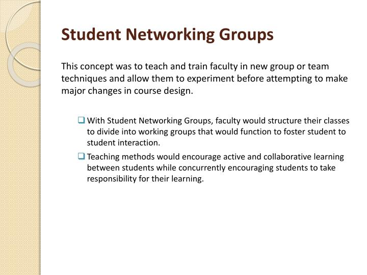 Student Networking Groups