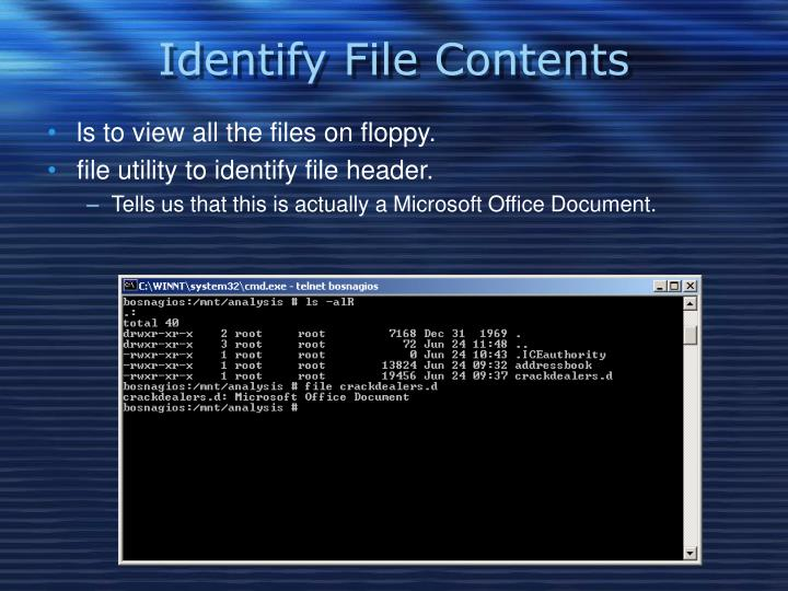 Identify File Contents