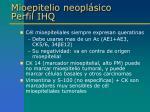 mioepitelio neopl sico perfil ihq2