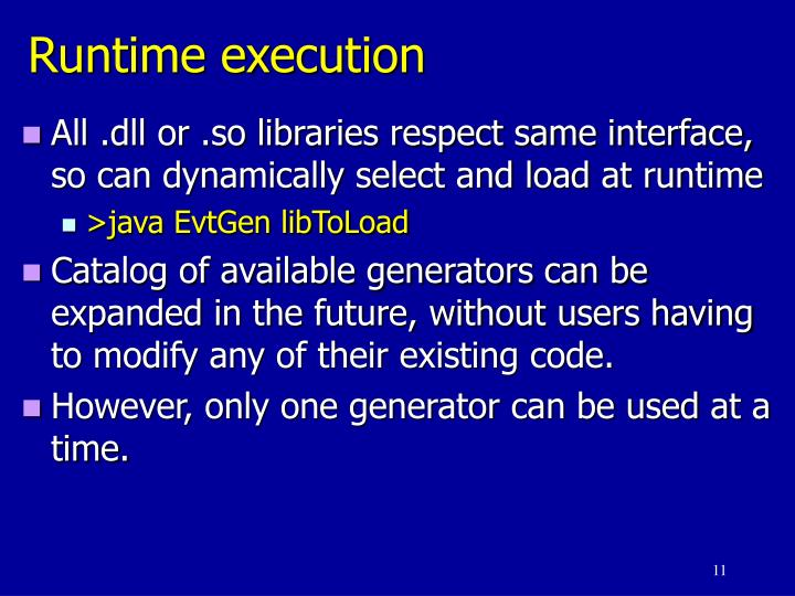 Runtime execution
