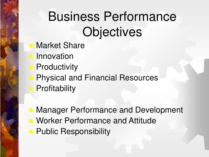 Business Performance Objectives