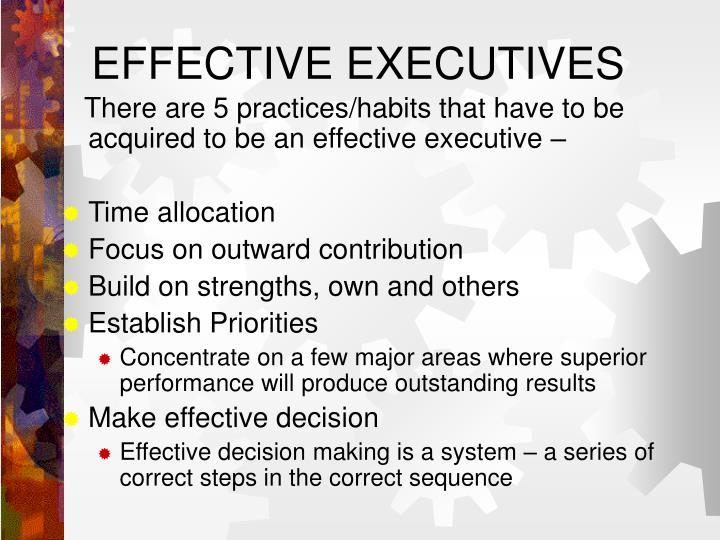 EFFECTIVE EXECUTIVES