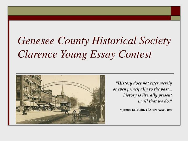 Genesee county historical society clarence young essay contest