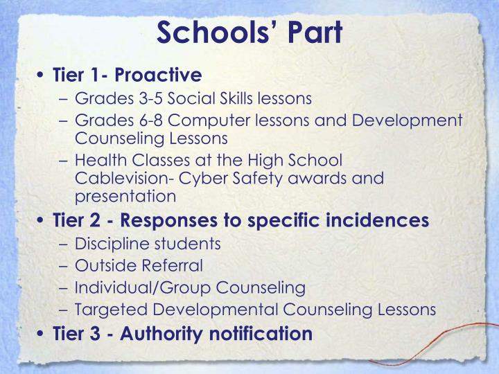 Schools' Part
