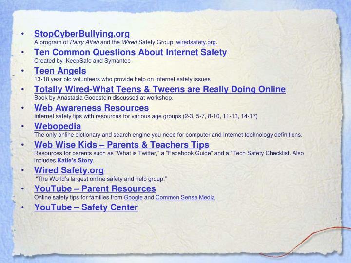 StopCyberBullying.org
