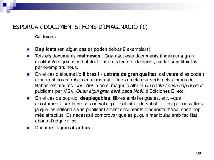 ESPORGAR DOCUMENTS: FONS D'IMAGINACIÓ (1)