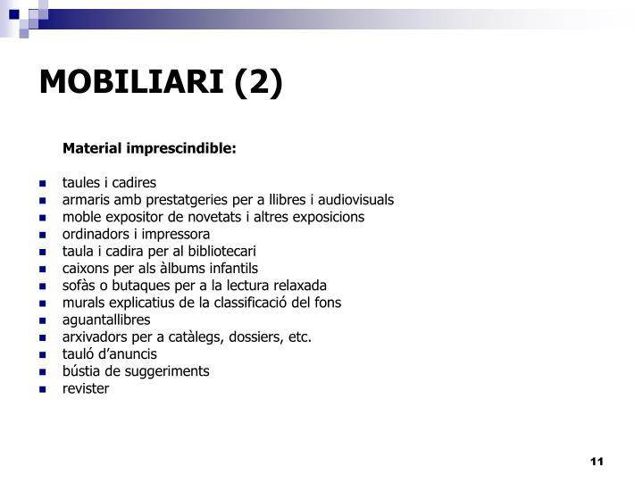 MOBILIARI (2)